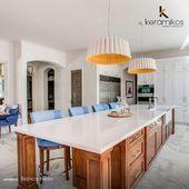 ¿Granito Blanco Hielo o Granito Negro San Gabriel? Escoge el que mejor se adapta a tus gustos al momento de dar los toques finales en tu cocina.  #keramikos #Ecuador #DetallesQueHablanDeTi #decoracionhogar #decoratuhogar #diseñohogar #hogaresconencanto #decoracióndeinteriores #granito